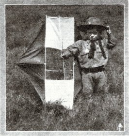 The 'Youngest Scout' with his Scout Kite